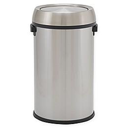 Design Trend®  Round Commercial Trash Can Desktop Swing Top  17 Gallon - 65 Liter