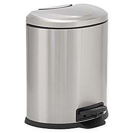 Design Trend® Stainless Steel Oval Step 1.6-Gallon Trash Can