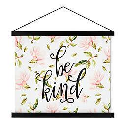 """Be Kind"" 21.5-Inch x 17-Inch Scroll Canvas Wall Art"