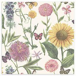 Arthouse Summer Garden Wallpaper in White