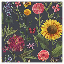Arthouse Summer Garden Wallpaper in Charcoal