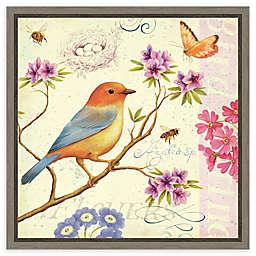 Amanti Art Birds and Bees II Framed Canvas Wall Art