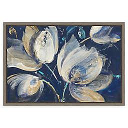Amanti Art Midnight Garden 23-Inch x 16-Inch Framed Canvas Wall Art