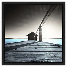 Amanti Art Old Boathouse by Anon Framed Canvas Wall Art