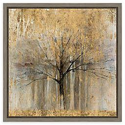 Amanti Art Open Arms Gold Crop 16-Inch Framed Canvas Wall Art
