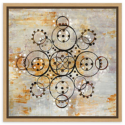 Amanti Art Saffron Mandala I Crop Framed Canvas Wall Art