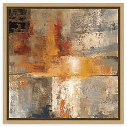 Amanti Art Silver and Amber Crop Framed Canvas Wall Art