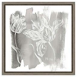 Amanti Art Water Wash I Neutral (Floral) Framed Canvas Wall Art