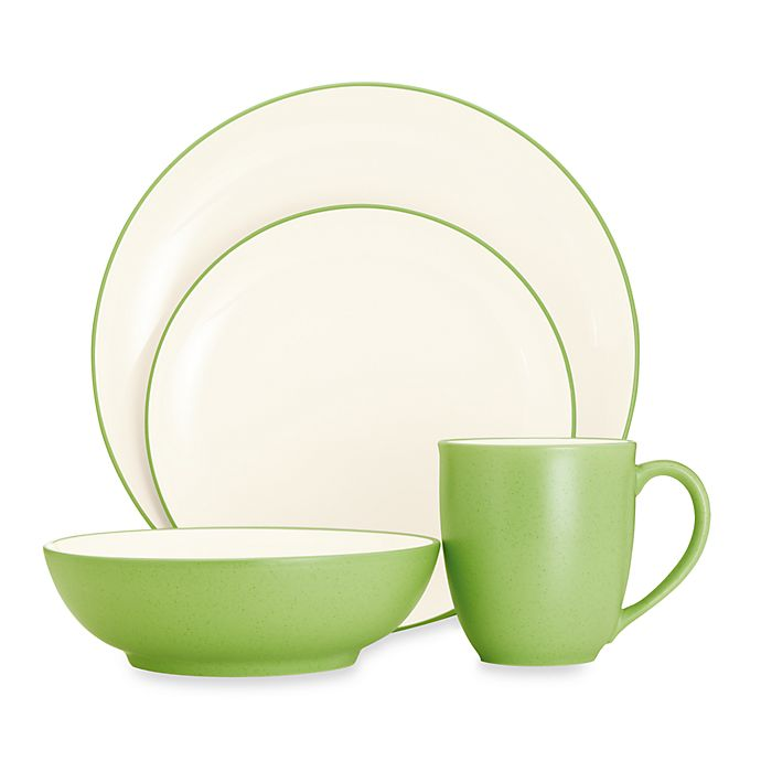 Alternate image 1 for Noritake® Colorwave Coupe 4-Piece Place Setting in Green Apple