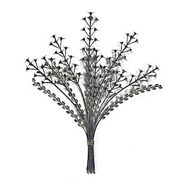 Bee & Willow™ Farmhouse Wildflower 19.69-Inch x 24.41-Inch Metal Wall Art in Pewter
