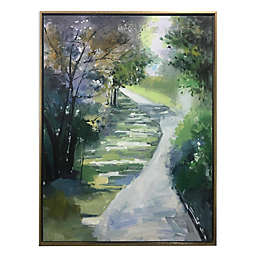 Green Pathway 48-Inch x 36-Inch Framed Canvas Wall Art in Green