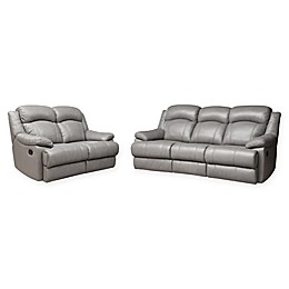 Abbyson Living™ Sienna 2-Piece Reclining Sofa and Loveseat Set in Grey