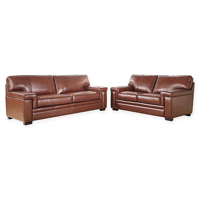 Sensational Abbyson Living Arlo 2 Piece Leather Sofa Dn Loveseat In Inzonedesignstudio Interior Chair Design Inzonedesignstudiocom