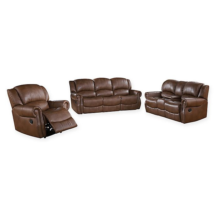 Tremendous Abbyson Living Natalia 3 Piece Reclining Sofa Set In Camel Squirreltailoven Fun Painted Chair Ideas Images Squirreltailovenorg
