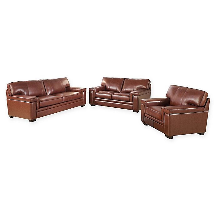 Alternate image 1 for Abbyson Living™ Upholstered Recliner Sofas in Brown(3 piece set)