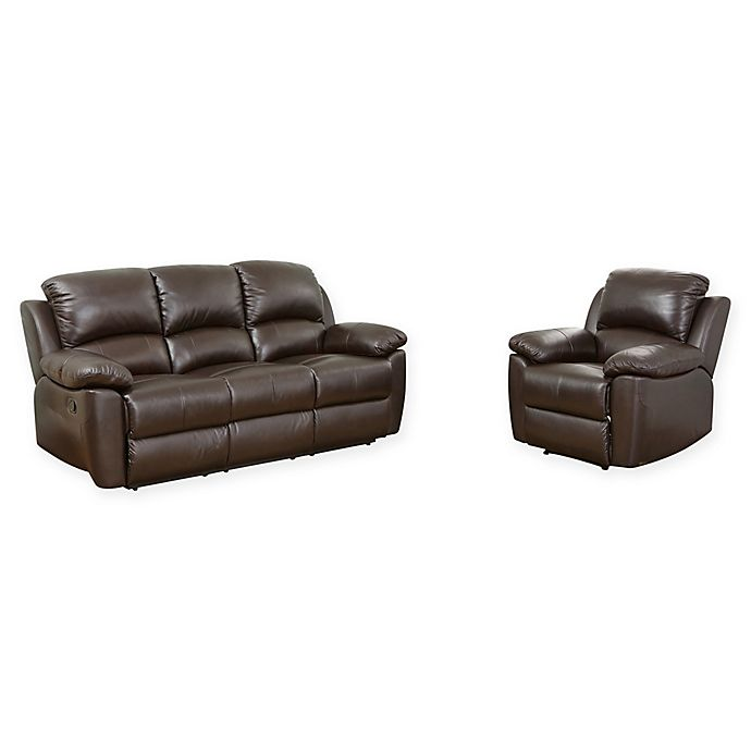 Isabelle 2 Piece Leather Sofa And
