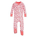Burt's Bees Baby® Size 0-3M Butterfly Escape Footed Sleeper in Pink