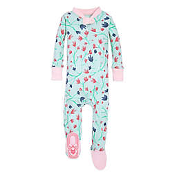 Burt's Bees Baby® Bethal Woods Footed Sleeper in Green