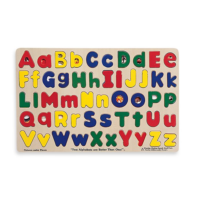 Alternate image 1 for Melissa & Doug® Upper and Lowercase Alphabet Puzzle