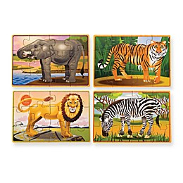 Melissa & Doug® Wild Animals Jigsaw Puzzle in a Box (Set of 4)