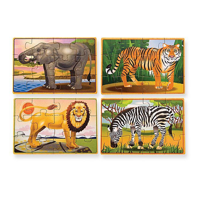Melissa Doug Wild Animals Jigsaw Puzzle In A Box Set Of