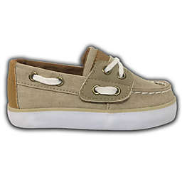 Two-Tone Boat Shoes in Khaki