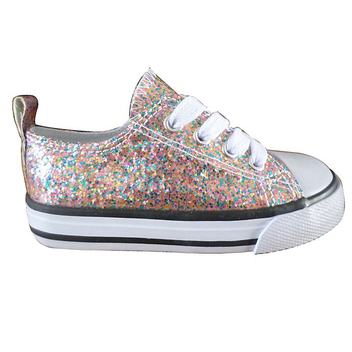 Alternate image 1 for Girls Fashion Glitter Shoes in Multicolor