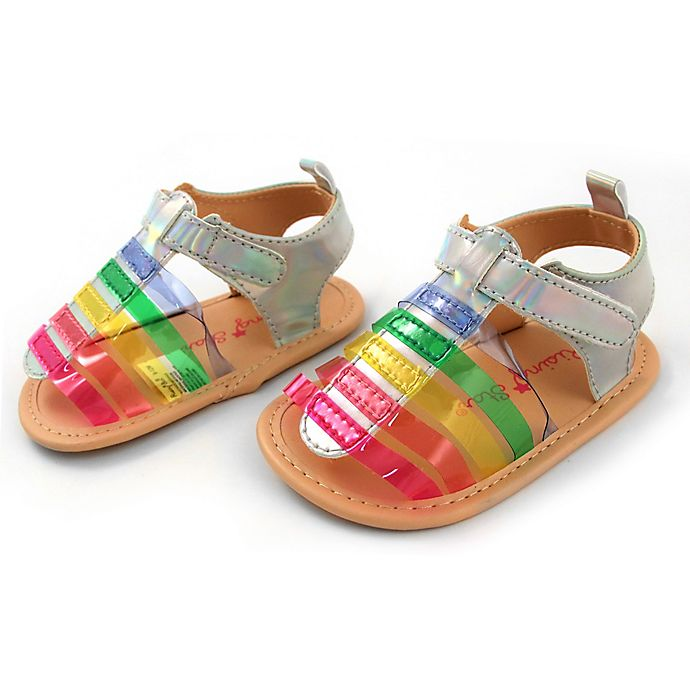 Alternate image 1 for Rising Star™ Size 9-12M Jelly Strap Sandals in Multicolor