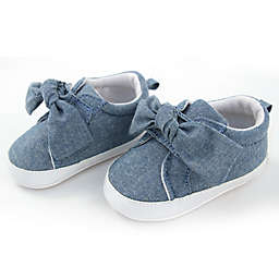 Rising Star™ Chambray Knot Soft Sole Shoes in Blue