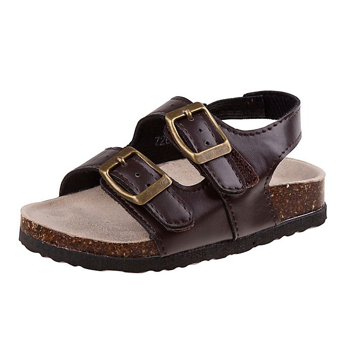 Alternate image 1 for Josmo Shoes Size 3-6M Classic Boy's Sandals in Brown