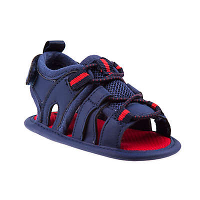 Joseph Allen Fisherman Sandal in Navy/Red