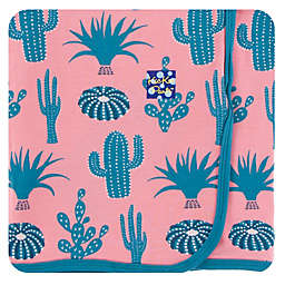 Kickee Pants® Strawberry Cactus Swaddling Blanket in Pink