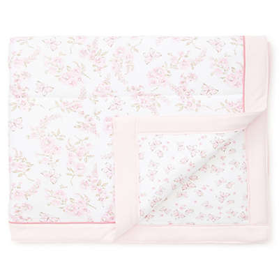 Little Me® Wild Roses and Butterflies Reversible Cotton Blanket in Pink/White