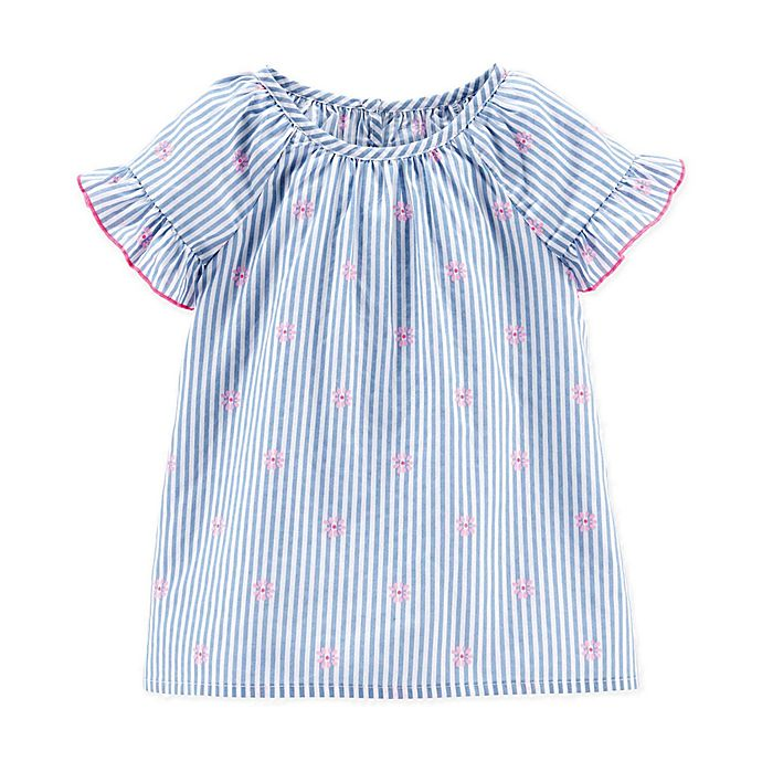 Alternate image 1 for carter's® Chambray Stripe Top