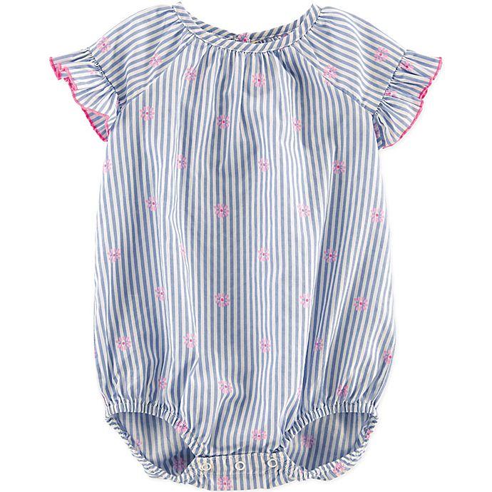 Alternate image 1 for carter's® Size 18M Ruffled Daisy Bodysuit