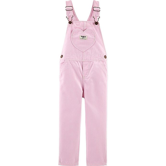 Alternate image 1 for carter's® Heart Pocket Overalls in Pink