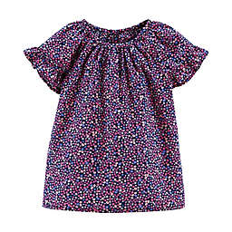 carter's® Ruffled Raglan Top in Navy
