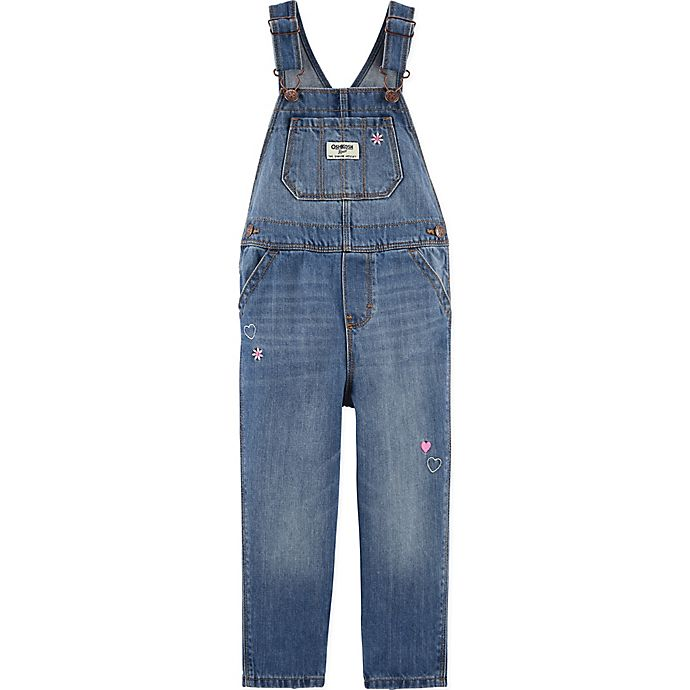 Alternate image 1 for carter's® Classic Denim Overalls in Upstate Blue