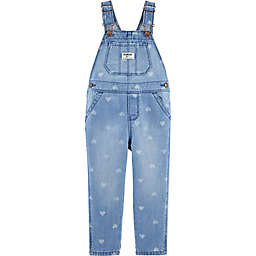 carter's® Classic Denim Heart Overalls in Sea Mist
