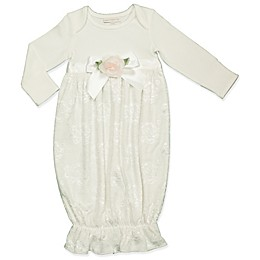 Clasix Beginnings® Size 0-6M Lace Gown in Ivory