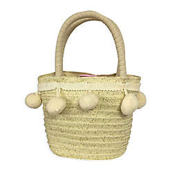Toby Fairy™ Pom Pom Woven Tote Bag in Ivory