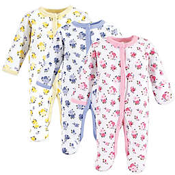 Luvable Friends® Preemie 3-Pack Floral Footies