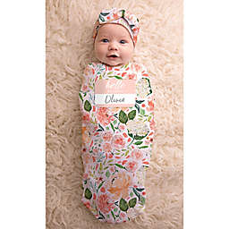 a6215e006 Itzy Ritzy® 2-Piece Watercolor Floral Swaddle Cocoon and Hat Set in Pink