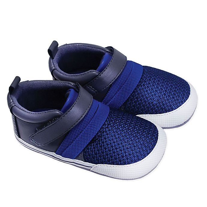 Alternate image 1 for ro+me by Robeez® Jake Athletic Sneaker in Blue/Grey