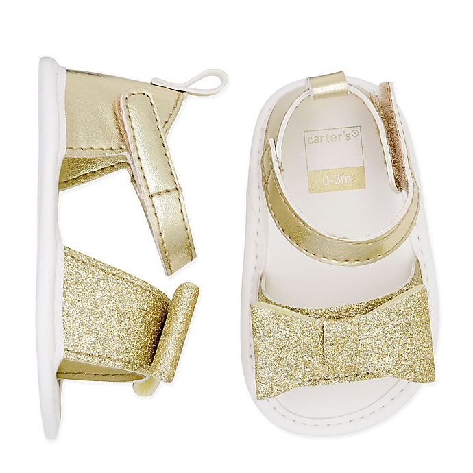 Alternate image 1 for carter's® Glitter Sandals in Gold