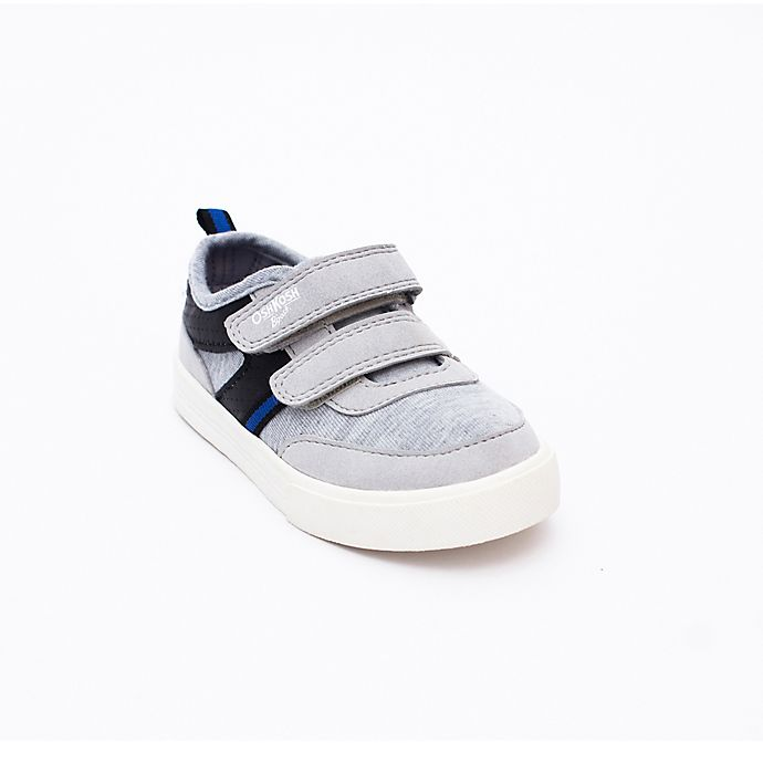 Alternate image 1 for OshKosh B'gosh® Size 6 Sneakers in Grey, Black and Blue