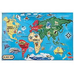 Melissa & Doug® World Map 33-Piece Floor Puzzle