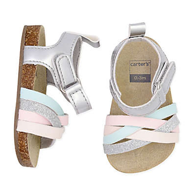 carter's® Cork Sole Sandals in White