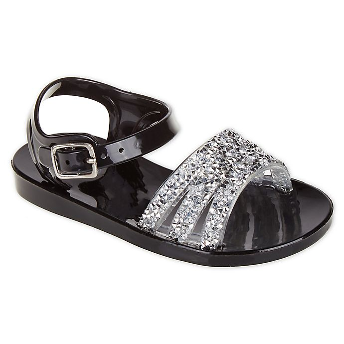948af64d2 Stepping Stones Jeweled Jelly Sandals in Black