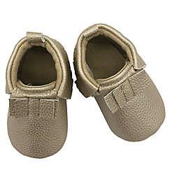 Soft Sole Crib Moccasin Crib Shoe in White